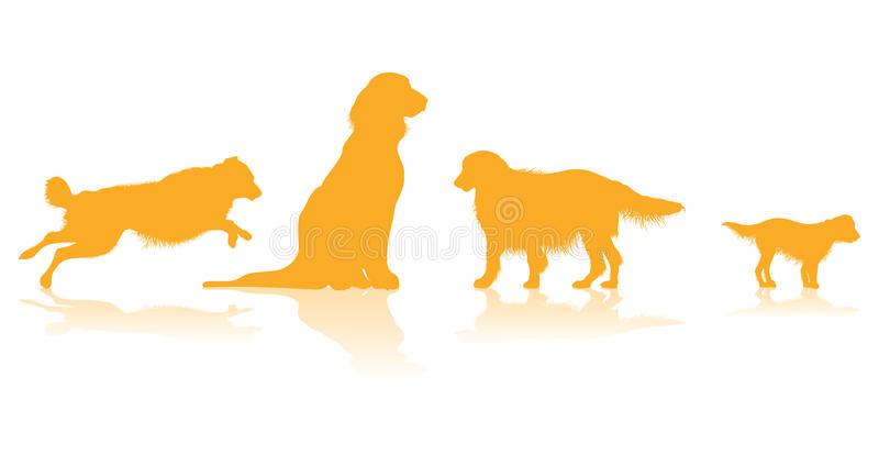 Download Dog silhouettes stock vector. Image of collection, puppy - 26587668