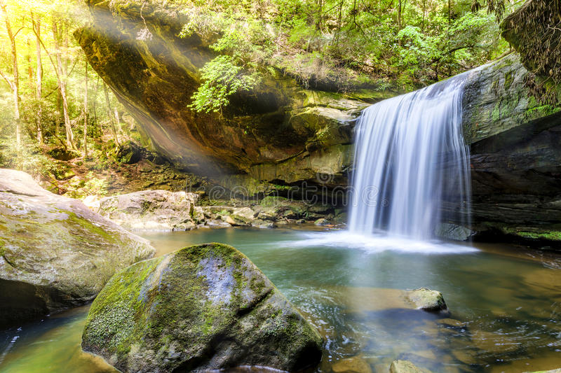 Dog Slaughter Falls. In the Daniel Boone National Forest in Southern Kentucky stock photo