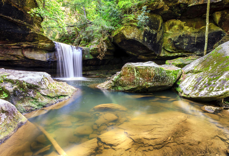 Dog Slaughter Falls. In the Daniel Boone National Forest in Southern Kentucky royalty free stock photo