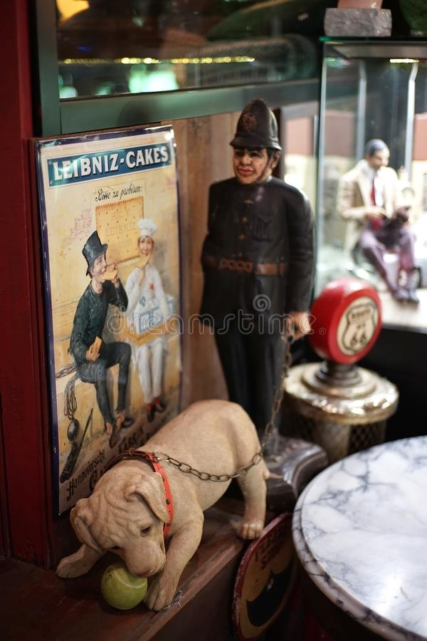 Dog and soldier model show at banmaichaynam restaurant and museu royalty free stock image