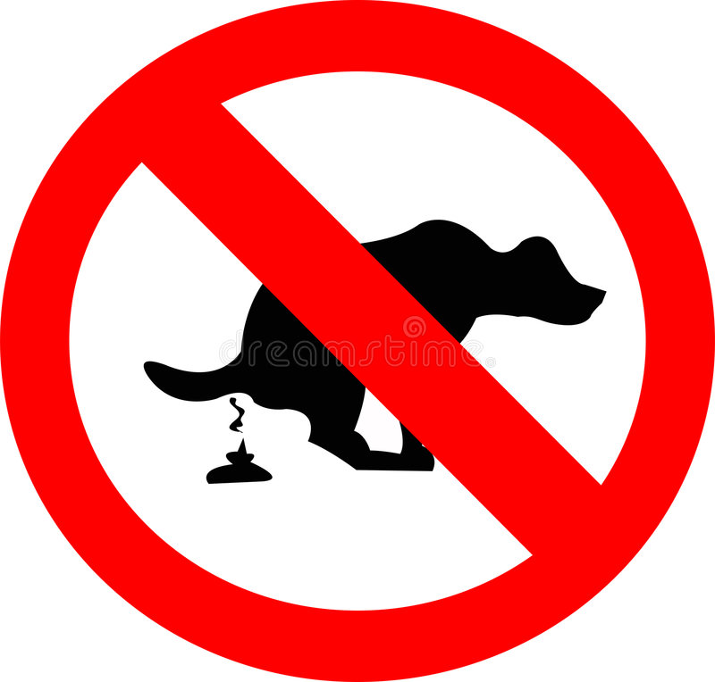Dog stop. Sign which forbids dog defecation stock illustration