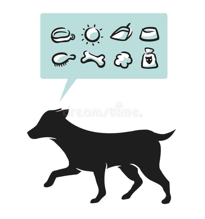 Dog supplies vector illustration