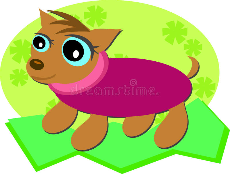 Download Dog In A Sweater Royalty Free Stock Images - Image: 25494329