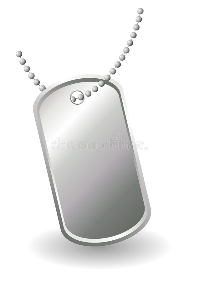 Download Dog tag stock vector. Image of silver, metal, neck, army - 7390541