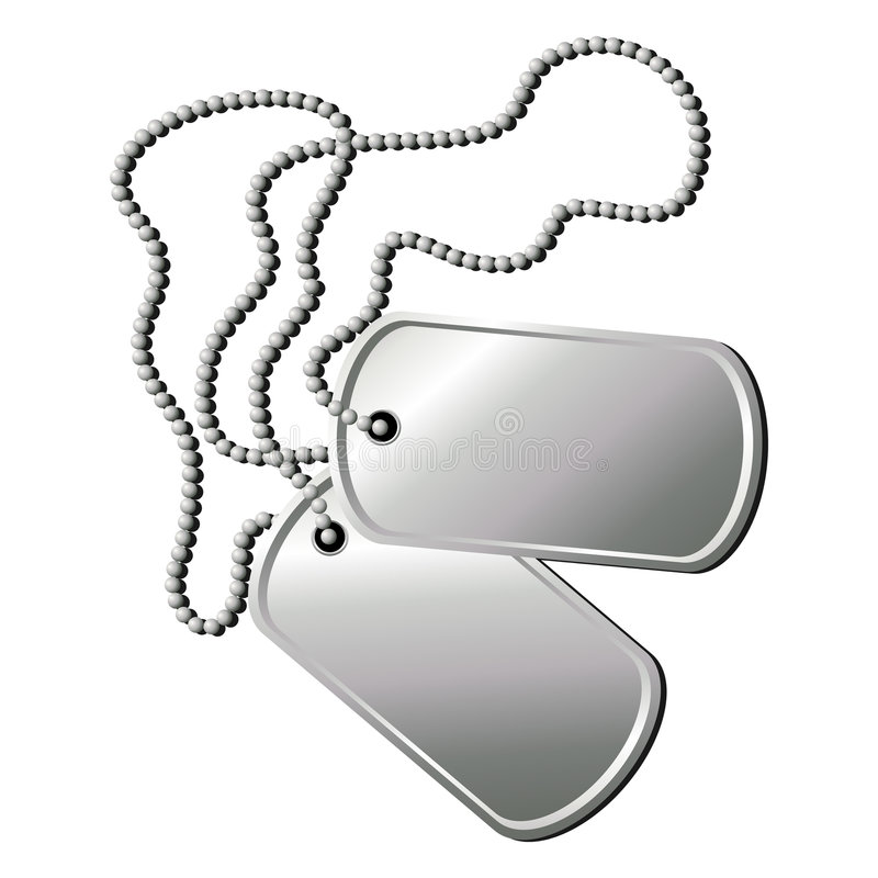 Dog tags_02 royalty free illustration