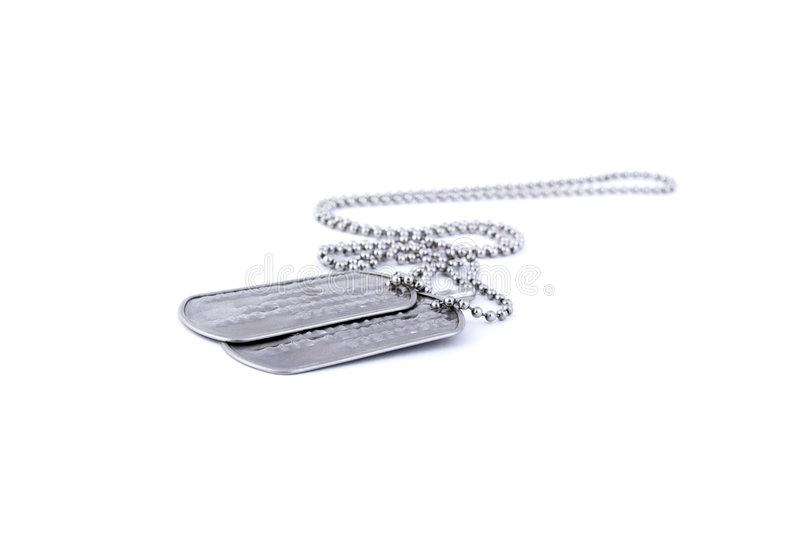 Download Dog tags stock image. Image of marines, frame, white, token - 3579325