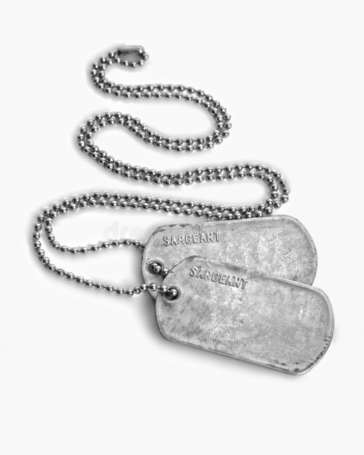 Download DOG TAGS stock photo. Image of marines, sargeant, soldier - 7670080