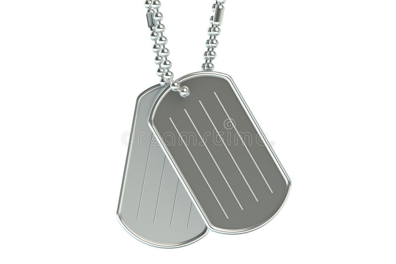 Dog tags 3D royalty free illustration
