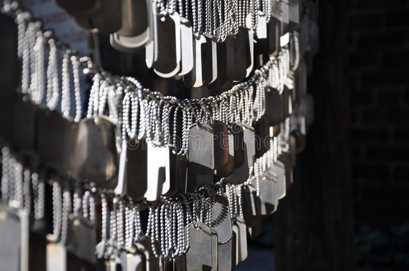Download Dog Tags For Fallen Soldiers Stock Photo - Image: 16171220