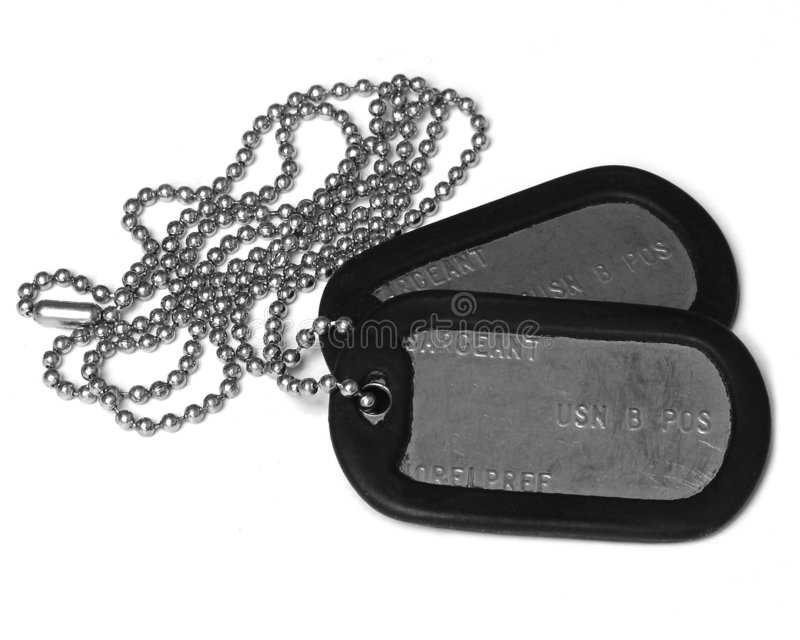 Dog tags five stock images