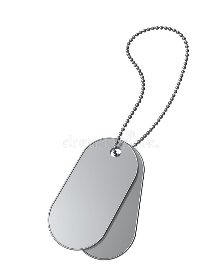 Download Dog Tags on white stock illustration. Image of ball, chain - 10520112