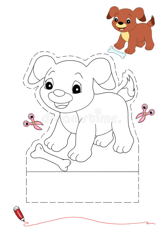 Download Dog To Be Color And To Cut Out Stock Illustration - Image: 17000265