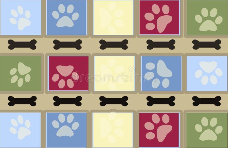 Dog Tracks And Bones Background Stock Photo