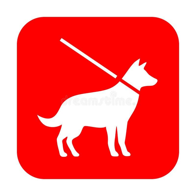 Dog vector sign royalty free illustration
