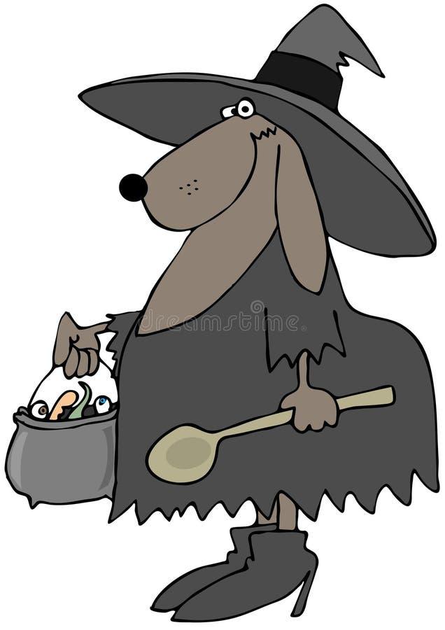 Dog Witch Stock Photo