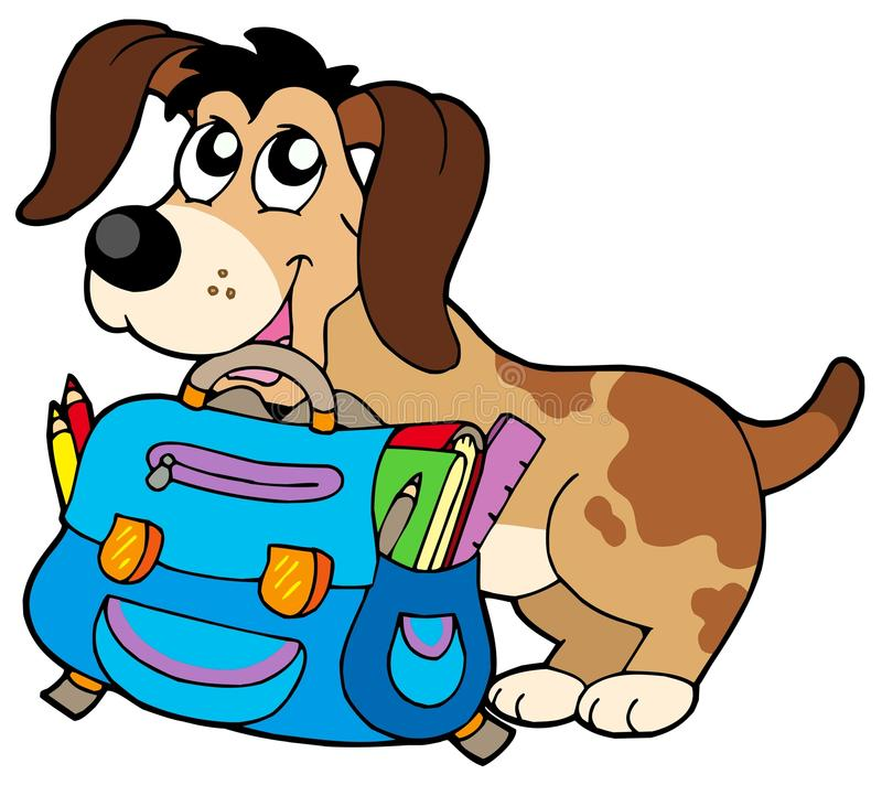 Free Dog With School Bag Royalty Free Stock Photo - 10329565
