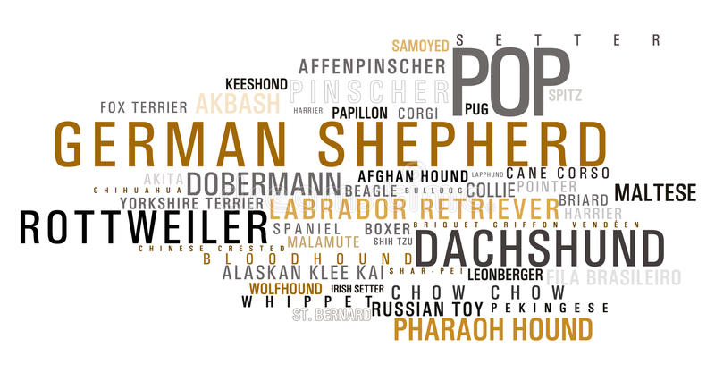 Download Dog Word Cloud Stock Image - Image: 13799371