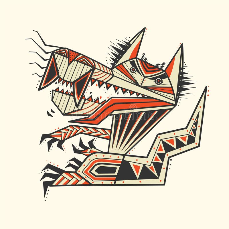 The dog zentangle tattoo stock images