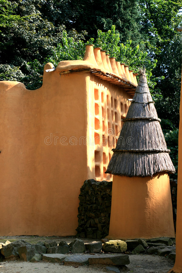 Dogan family and storehouse (Mali) royalty free stock photography
