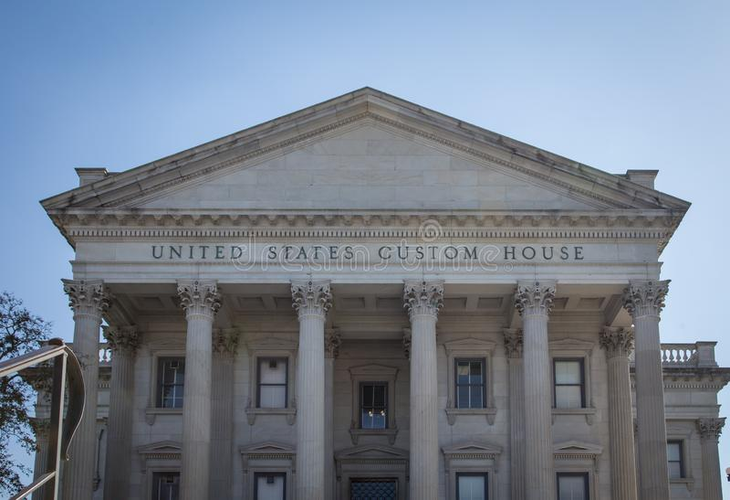Dogana Charleston degli Stati Uniti fotografie stock