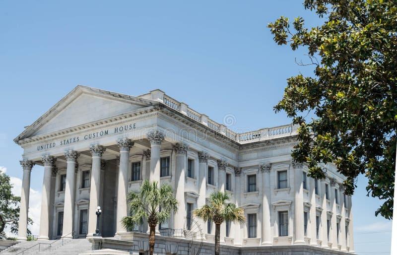 Dogana degli Stati Uniti a Charleston, Carolina del Sud fotografia stock libera da diritti
