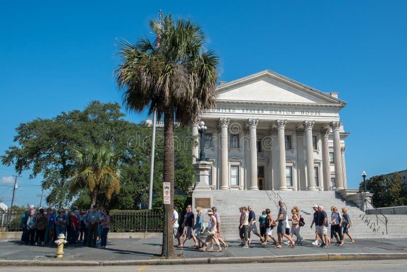 Dogana degli Stati Uniti a Charleston, Sc fotografia stock libera da diritti