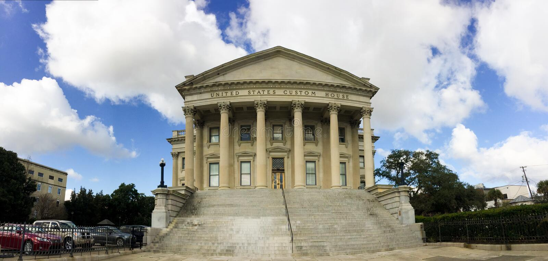 Dogana degli Stati Uniti, Charleston, Sc fotografie stock libere da diritti