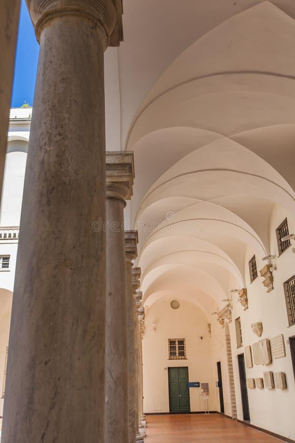 Doge παλάτι στη Γένοβα στοκ εικόνες
