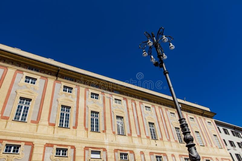 Doge παλάτι στη Γένοβα στοκ φωτογραφίες