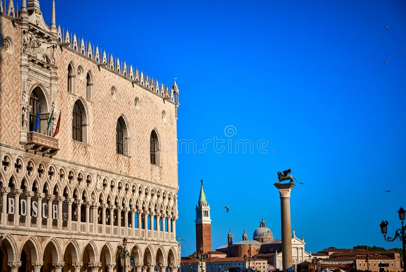 Doge`s Palace Palazzo Ducale Piazza San Marco Venice Italy. Piazza San Marco,Venice,Doge`s Palace, building,Doge`s Palace,venetian,historic,venezia,Italy,UNESCO royalty free stock photos