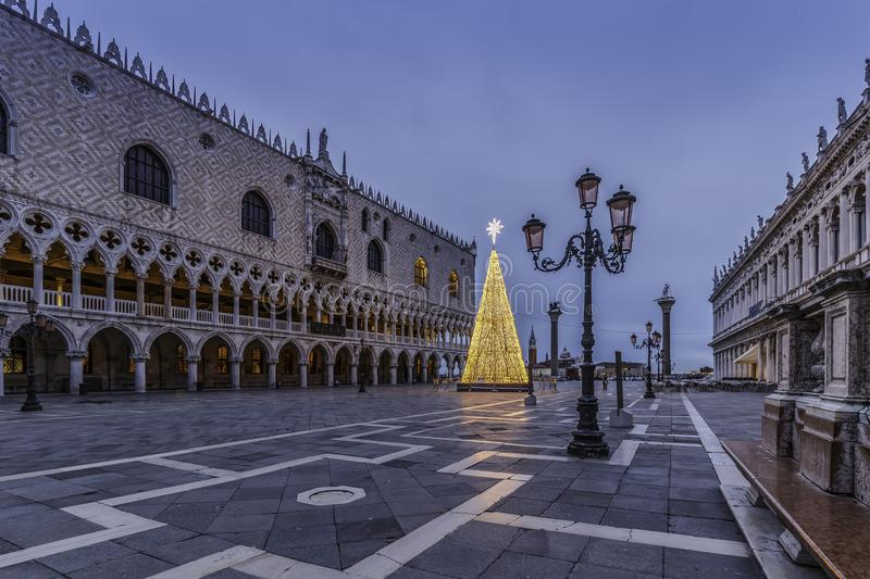 The Doge`s Palace at Piazza San Marco in Venice. Known as Palazzo Ducale in Italian, the doge`s palace was the residence of the doge and the government of the royalty free stock image