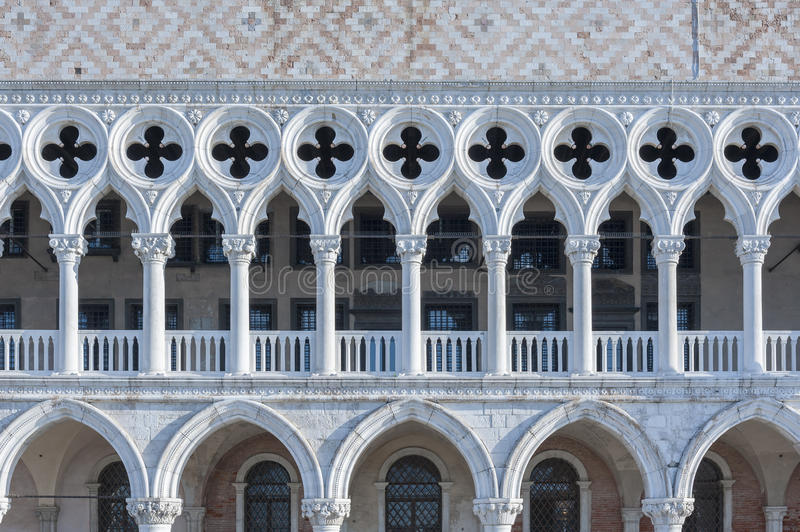Doge`s palace in St Mark`s Square in Venice, Italy stock images