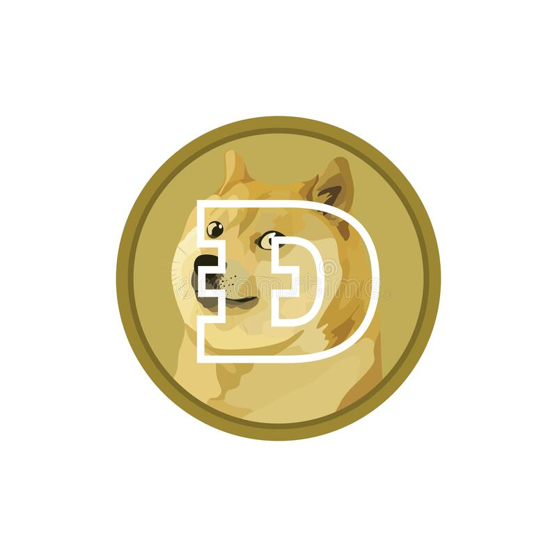 Free Dogecoin DOGE Cryptocurrency Icon Isolated On White Background. Digital Currency. Royalty Free Stock Photos - 216930178