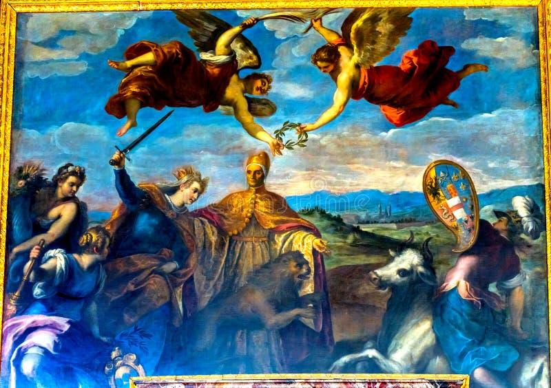 Dogeengelen die Palazzo Ducale Doge& x27 schilderen; s Paleis Venetië Italië stock afbeeldingen