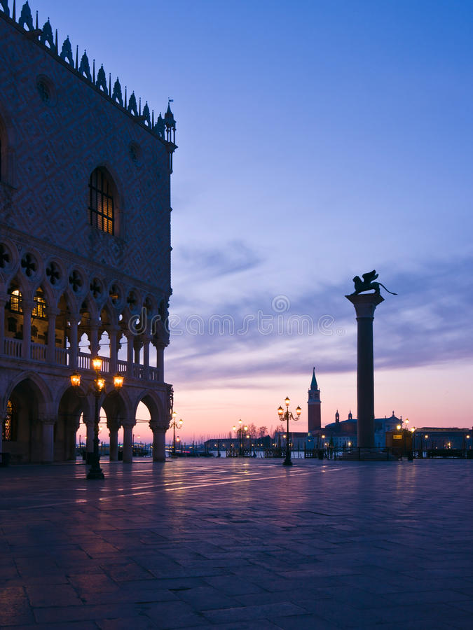 Download Doges Palace At Dawn In Venice Stock Photo - Image: 23601370