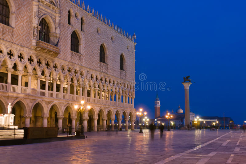 Doges Palace at dusk in Venice
