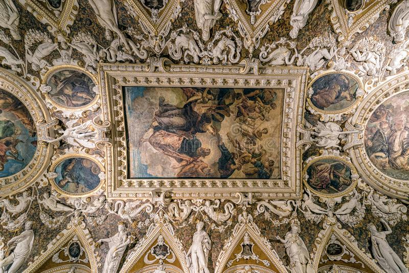 Dogeslotttak, Venedig arkivfoton