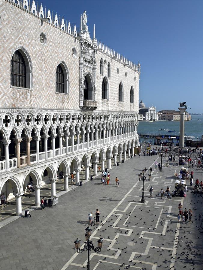 Dogesslott - St markerar fyrkanten - Venedig - Italien royaltyfria bilder