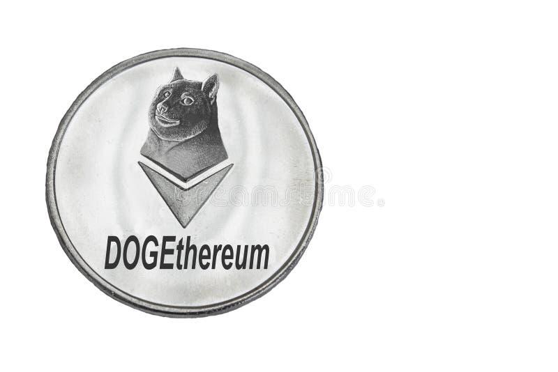 Dogethereum硬币 图库摄影