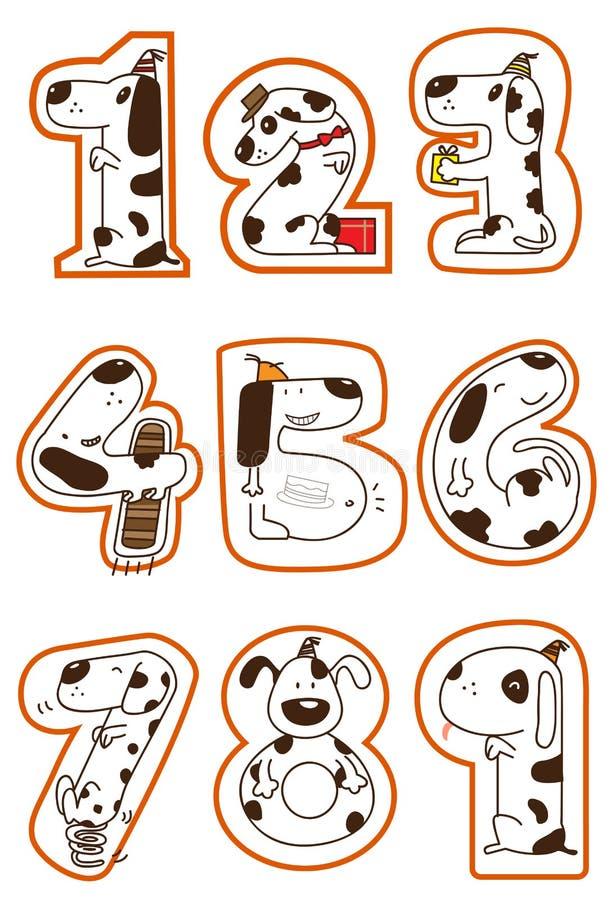 Download Doggy 1-9 stock illustration. Image of digital, illustration - 22036438