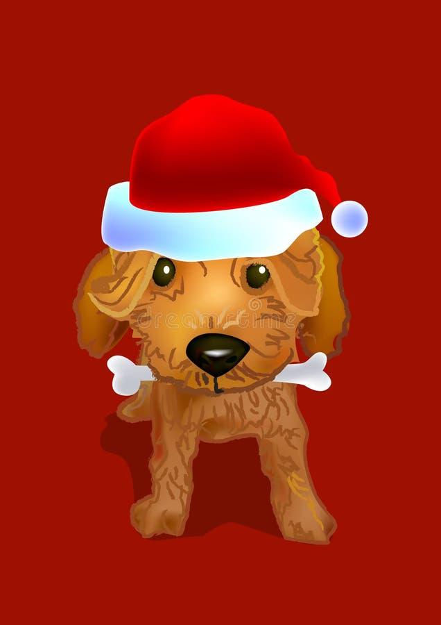 Doggy de Santa ilustração royalty free