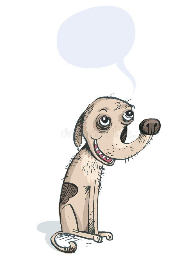 Doggy divertente Personaggio dei fumetti illustrazione vettoriale