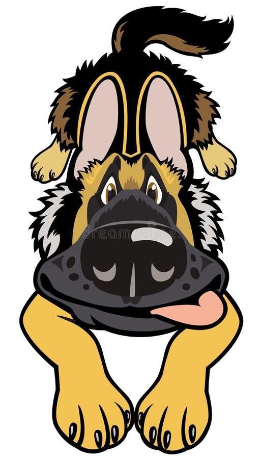 Doggy dos desenhos animados ilustração stock