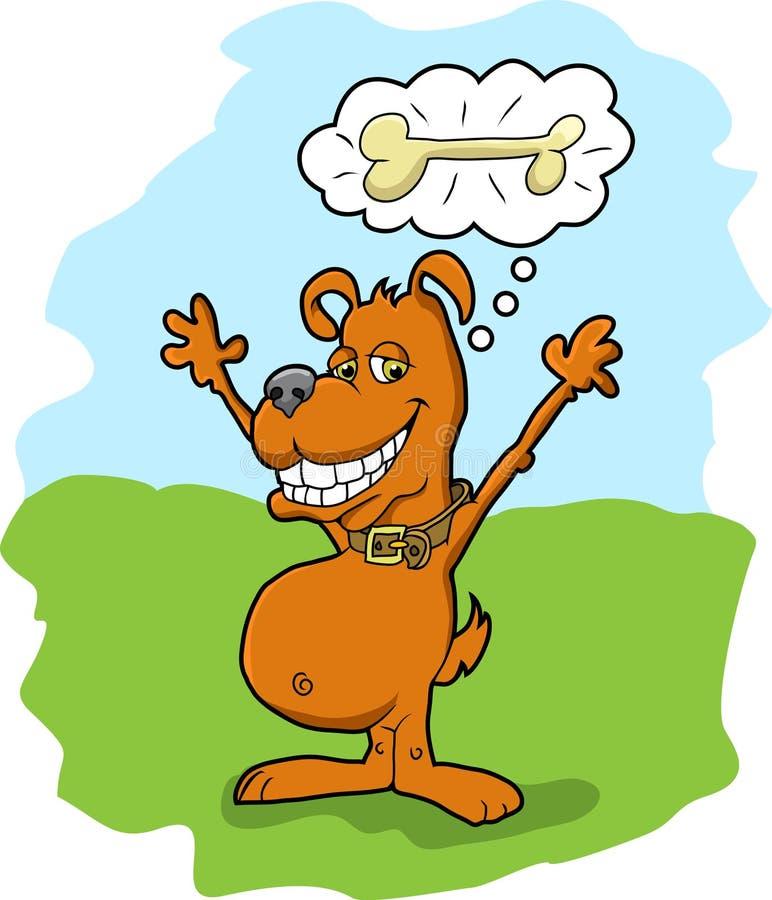 Doggy e osso ilustração royalty free