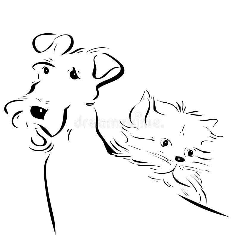 Doggy e vaquinha ilustração do vetor