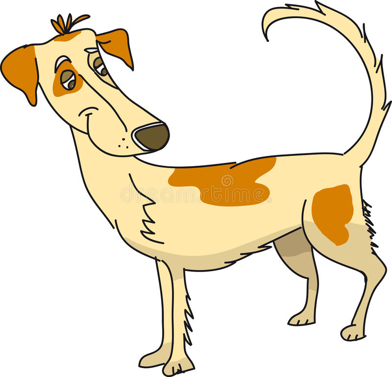 Doggy feliz ilustração stock