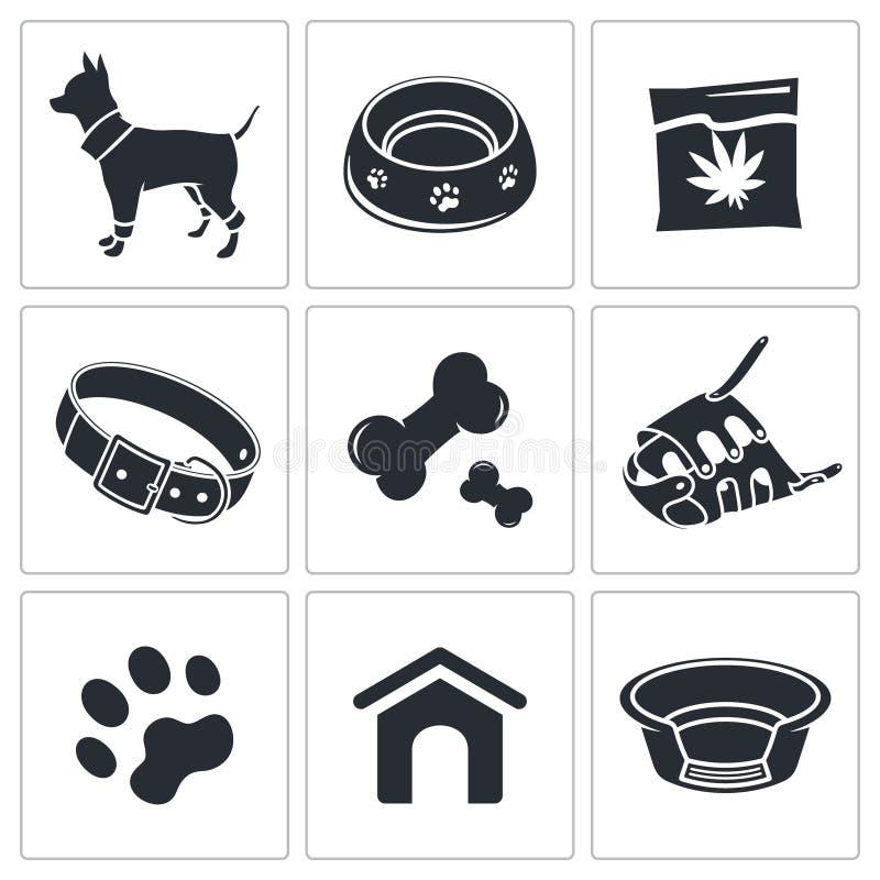 Download Doggy ikony kolekcja ilustracji. Ilustracja złożonej z rama - 42525432