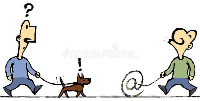 Doggy incomun ilustração royalty free