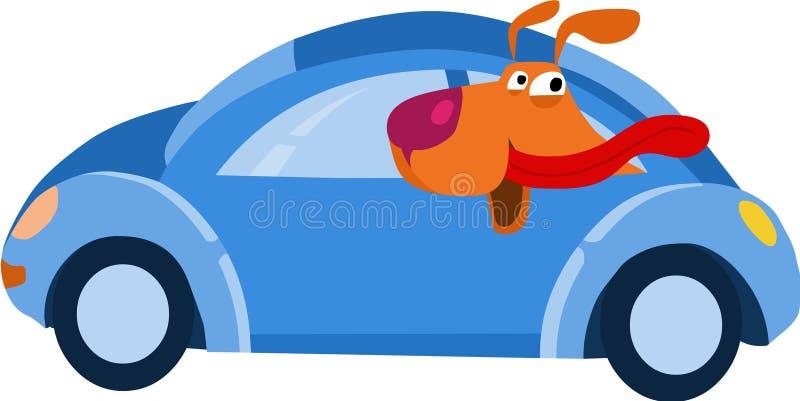 Doggy no carro ilustração do vetor
