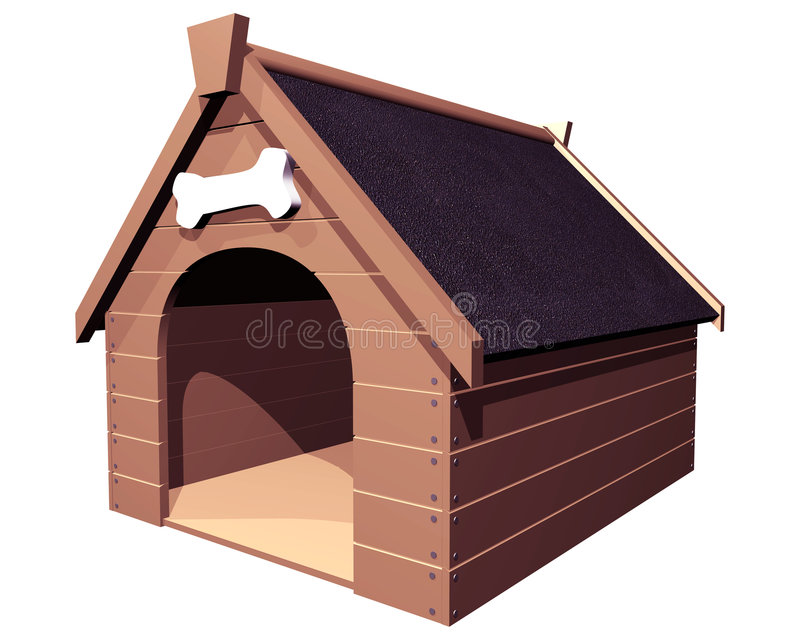 The Doghouse Isolated Royalty Free Stock Images